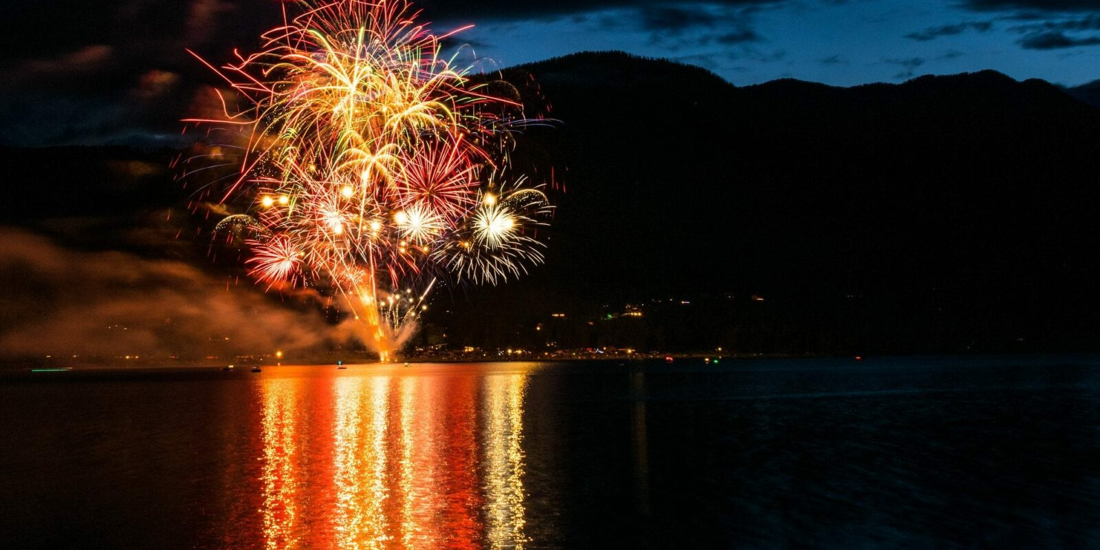image of fireworks over a lake