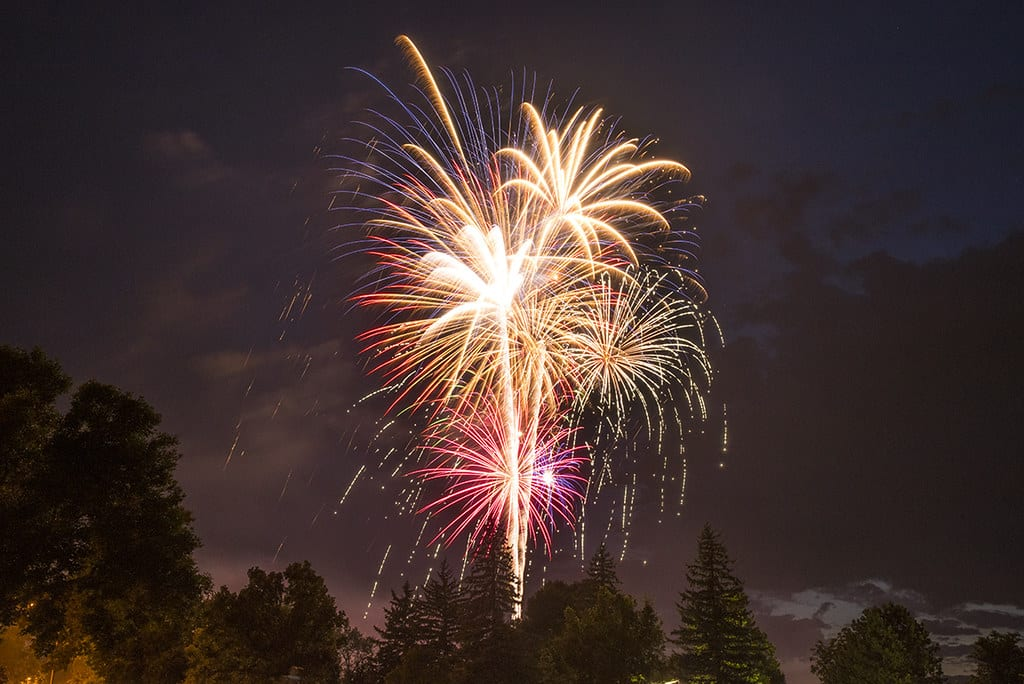 image of fireworks in fort collins colorado