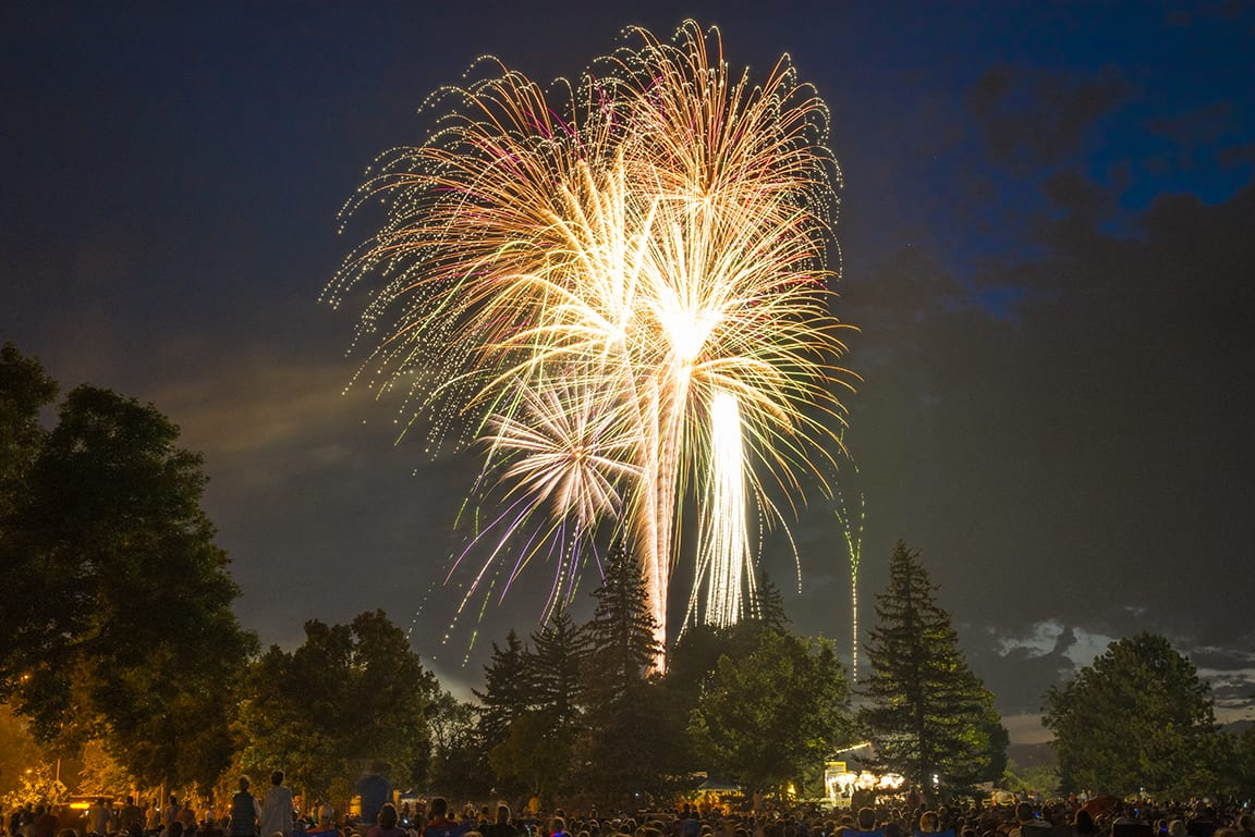 Independence Day Fireworks Fort Collins CO City Park Sheldon Lake