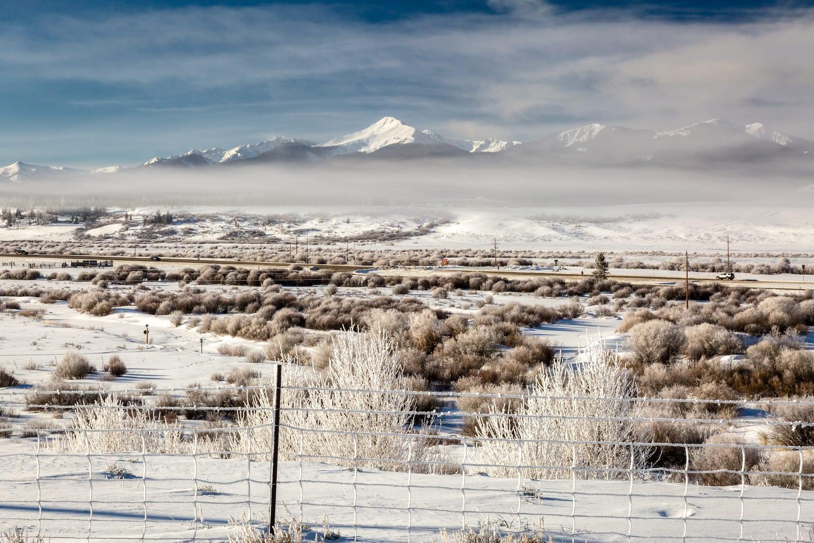 Fraser River Valley Grand County Colorado Winter Frost
