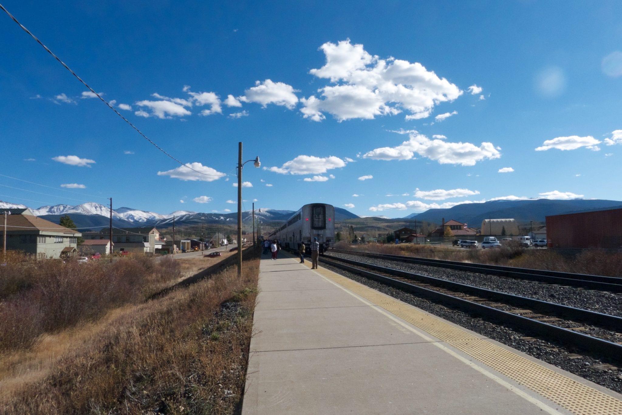 Granby CO Amtrak Train Railroad Tracks