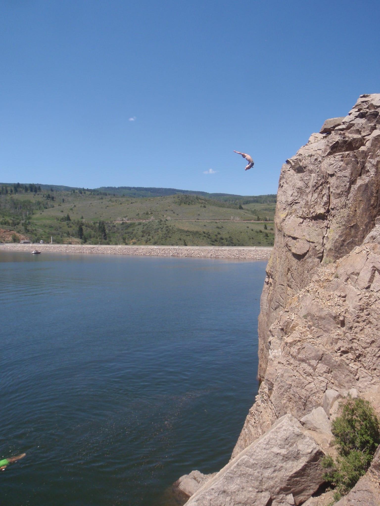 Green Mountain Reservoir Cliff Jumping Heeney CO