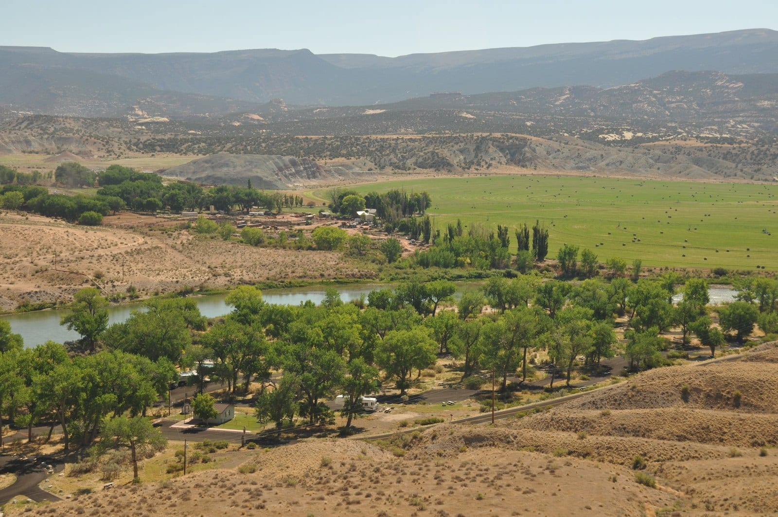 Overlooking Green River Campground Dinosaur National Monument Jensen Utah