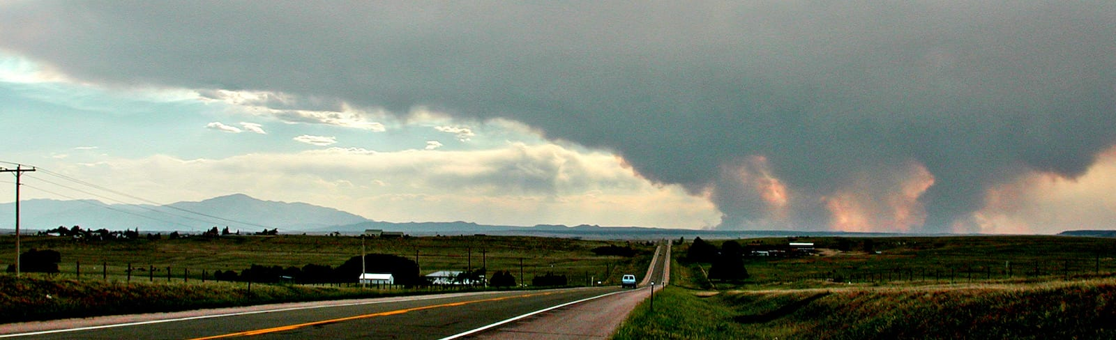 Hayman Fire 2002 Smoke View from Eastern Plains