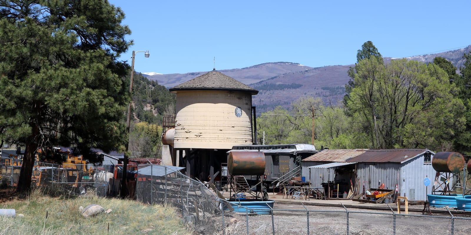 Hermosa Colorado Durango and Silverton Railroad Water Tank on Highway 550