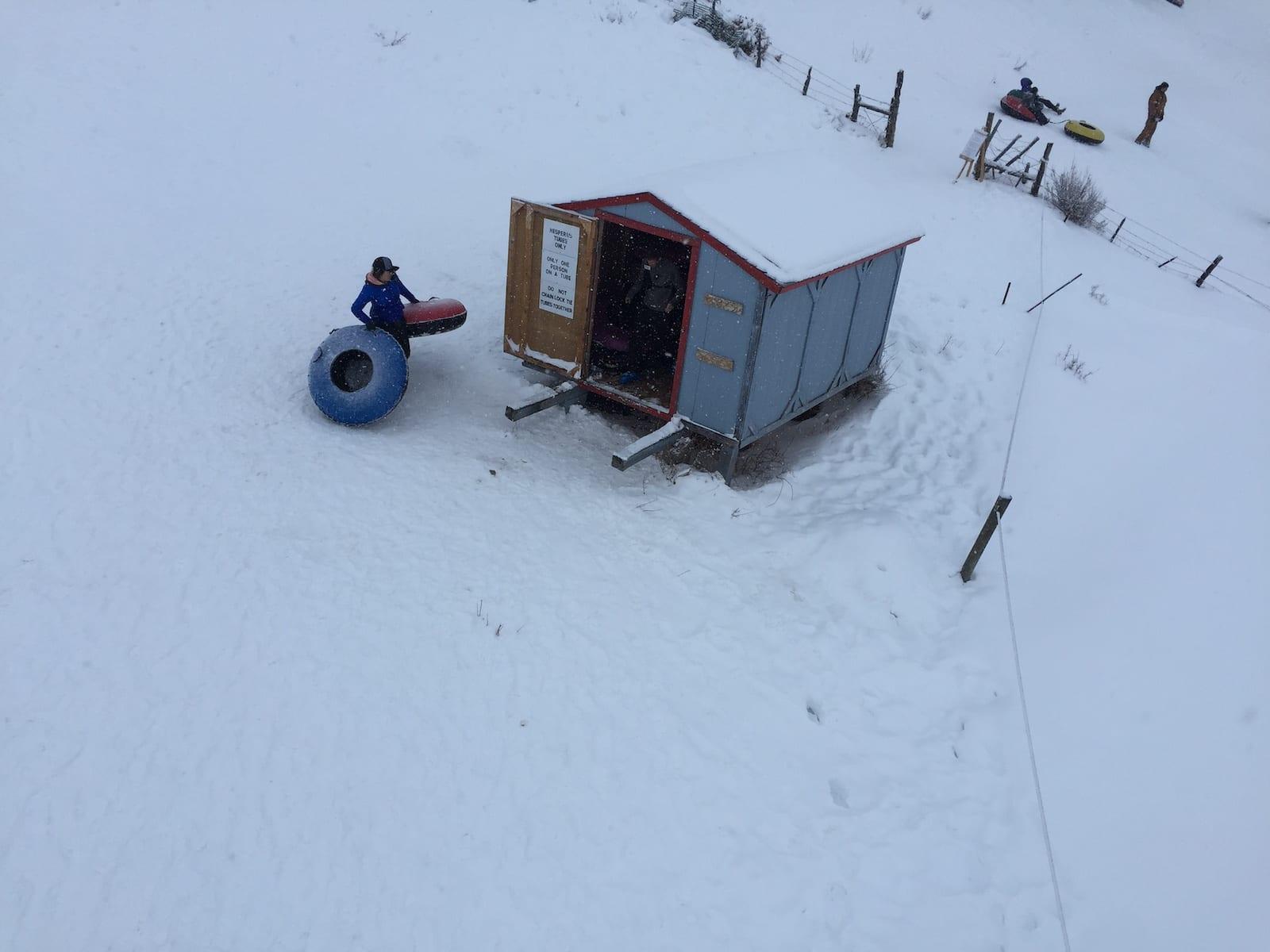 Hesperus Ski Area Tube Shack