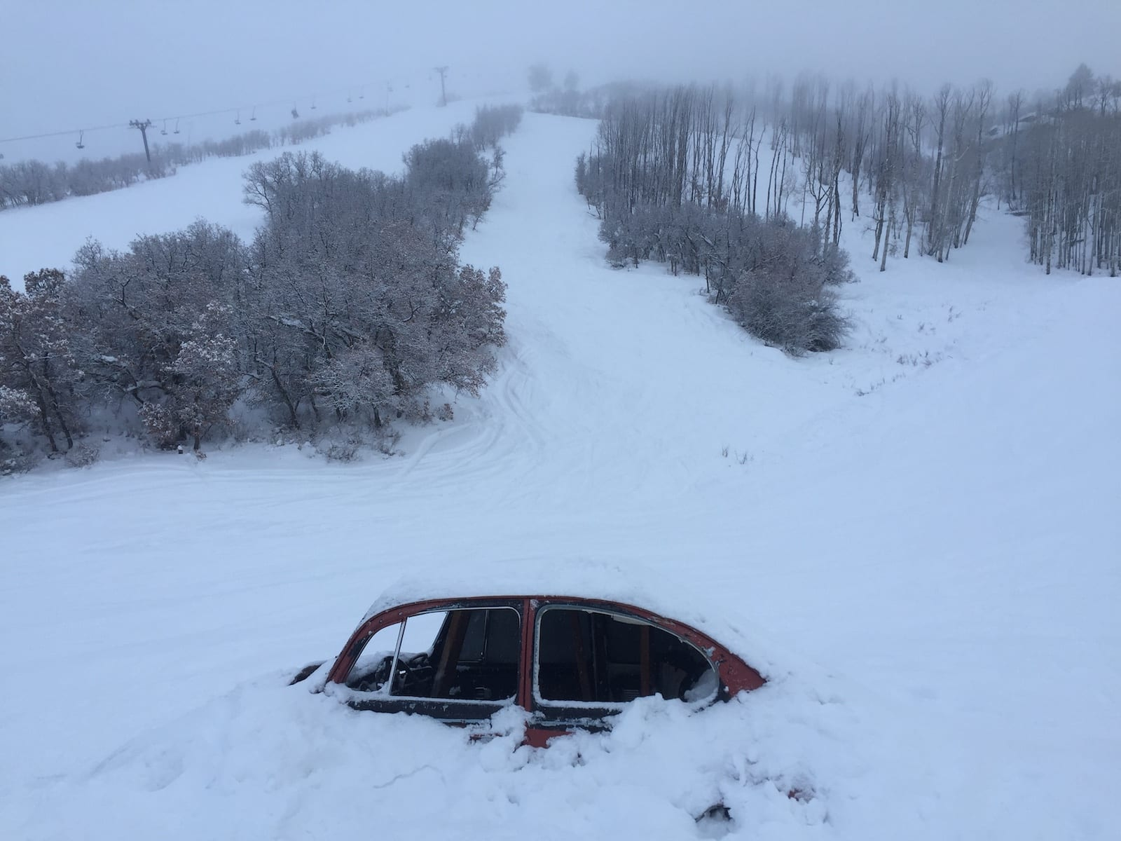 Hesperus Ski Area Punch Buggy Car Buried in Snow