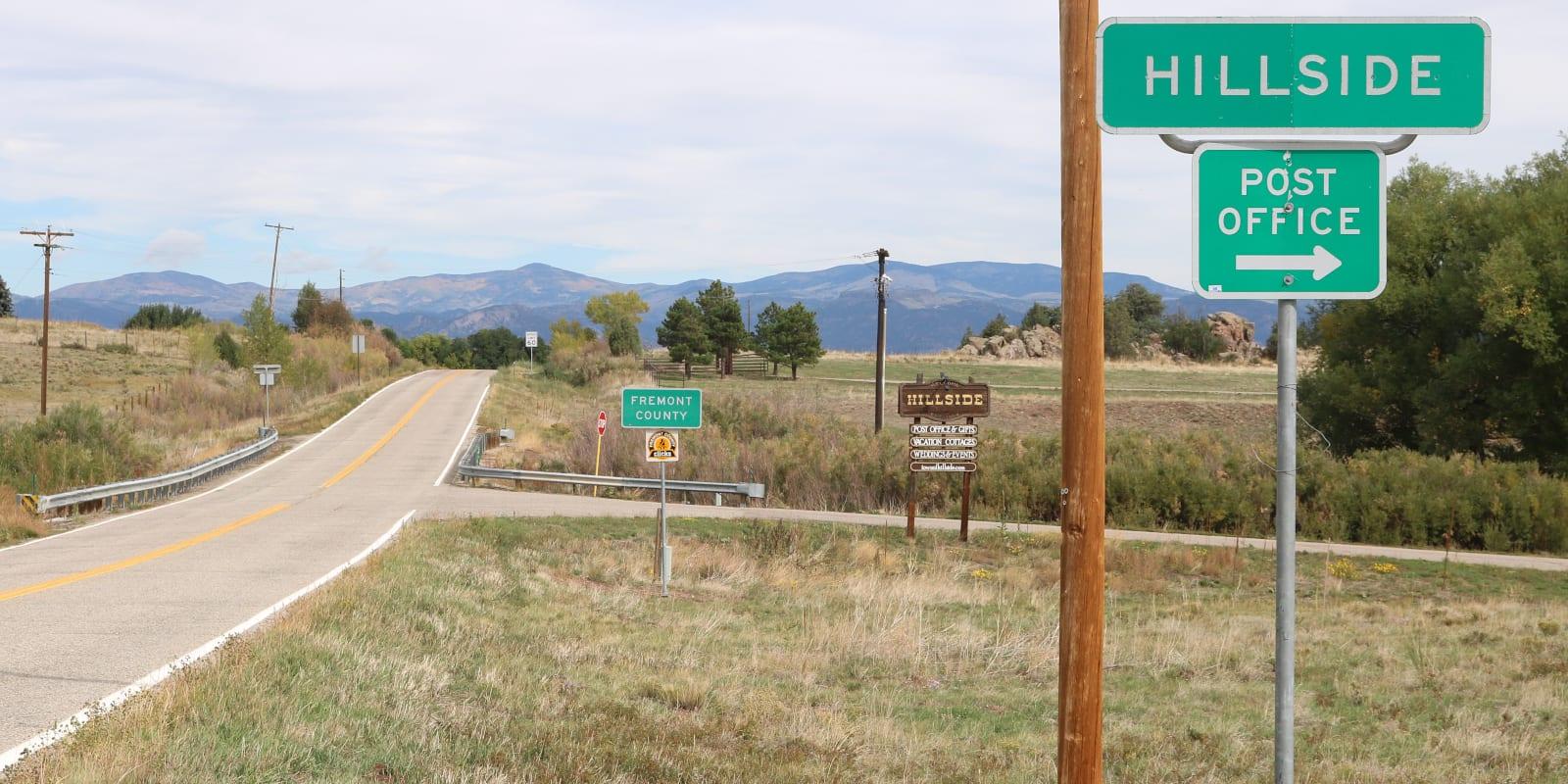 Hillside CO Sign Highway 69