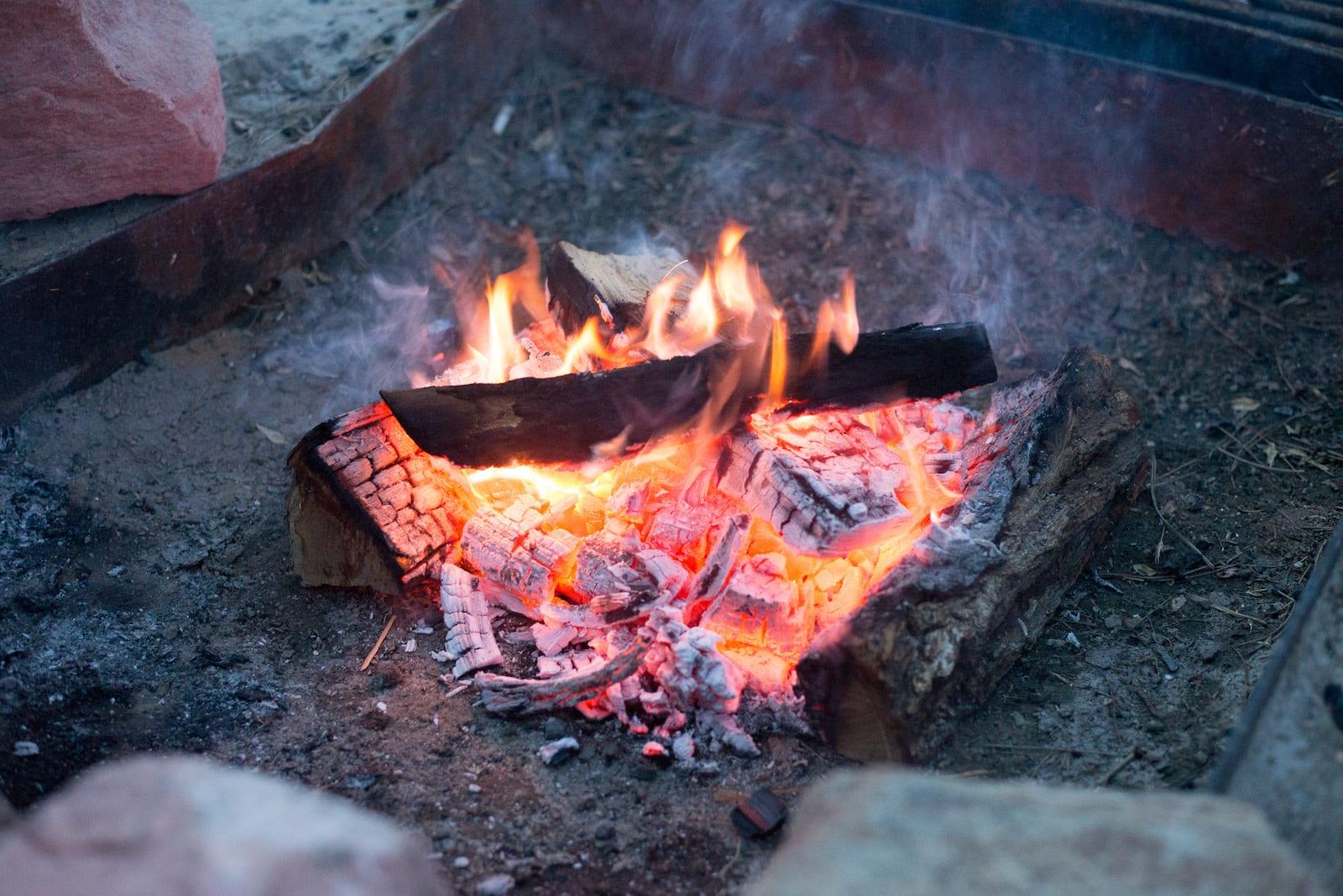 Jackson Lake State Park Campfire