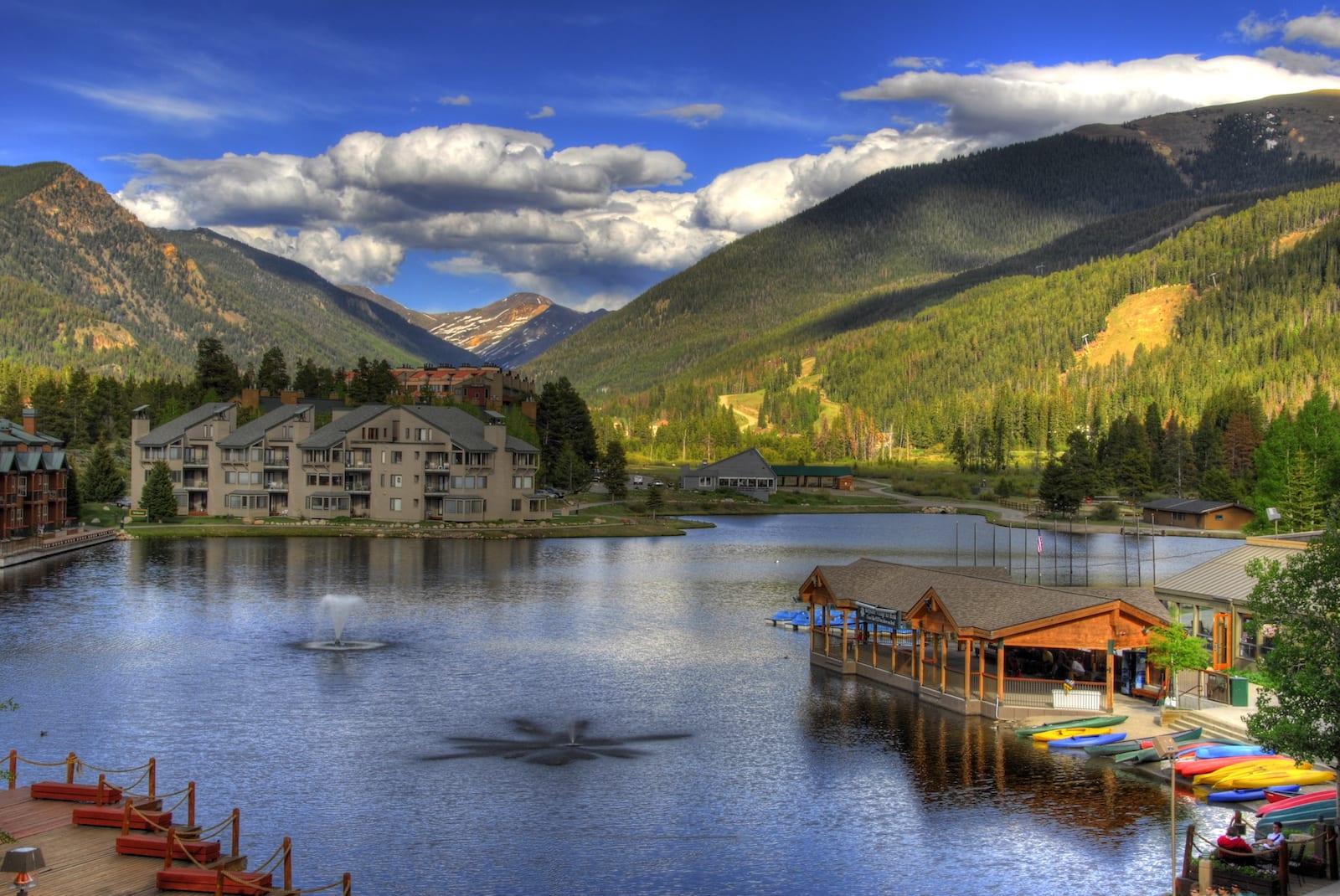Keystone Lake Colorado Summer