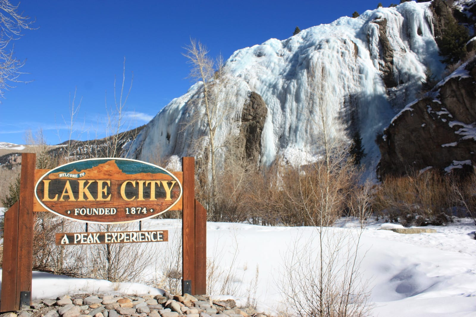 Town of Lake City Colorado Sign Ice Park