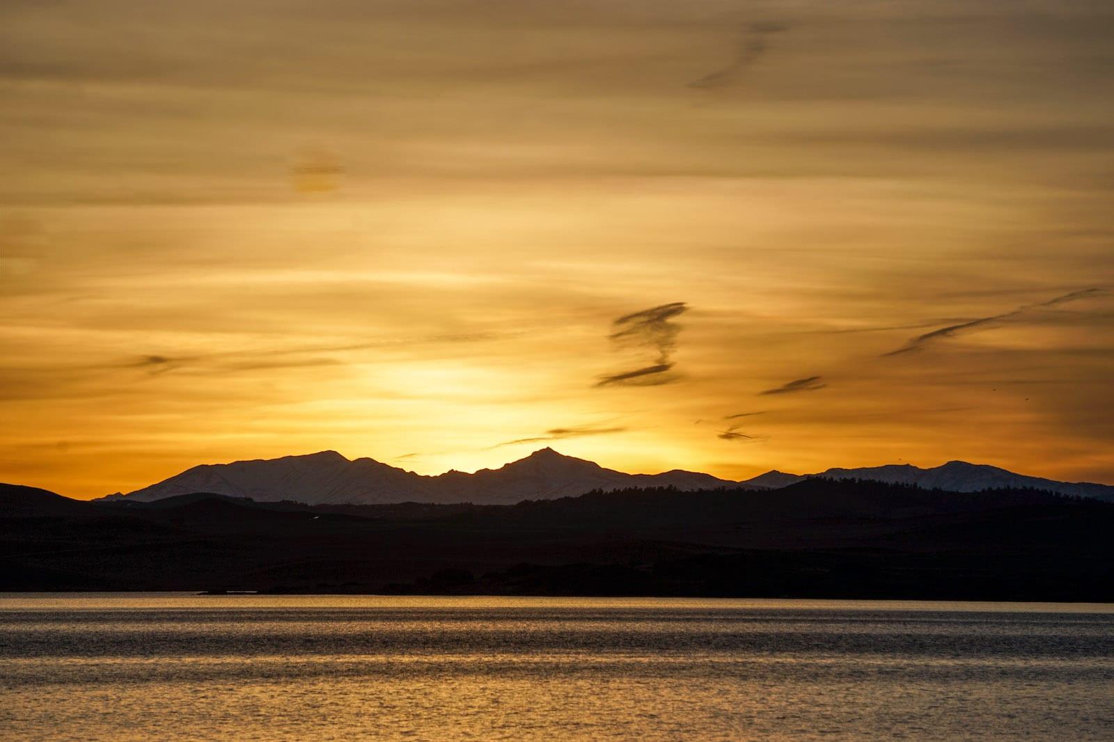 Eleven Mile Reservoir Sunset Lake George CO Continental Divide