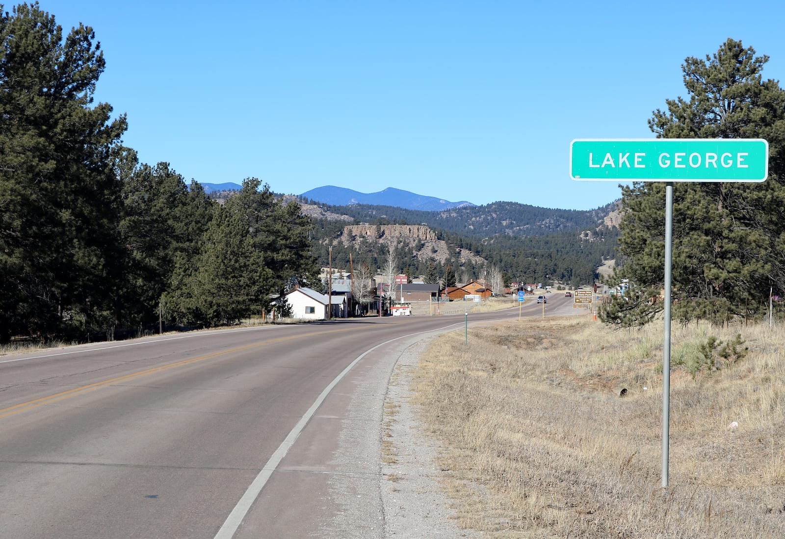Lake George Colorado Sign Highway 24