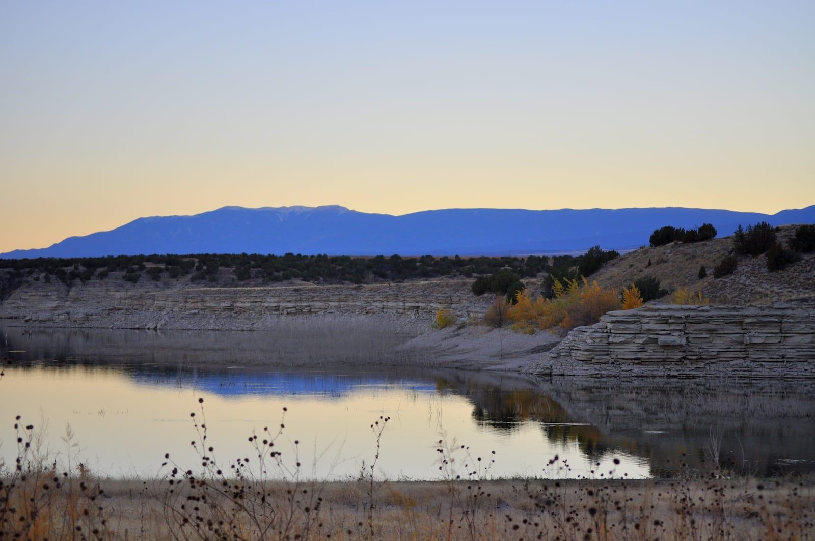 Lake Pueblo Colorado Dusk