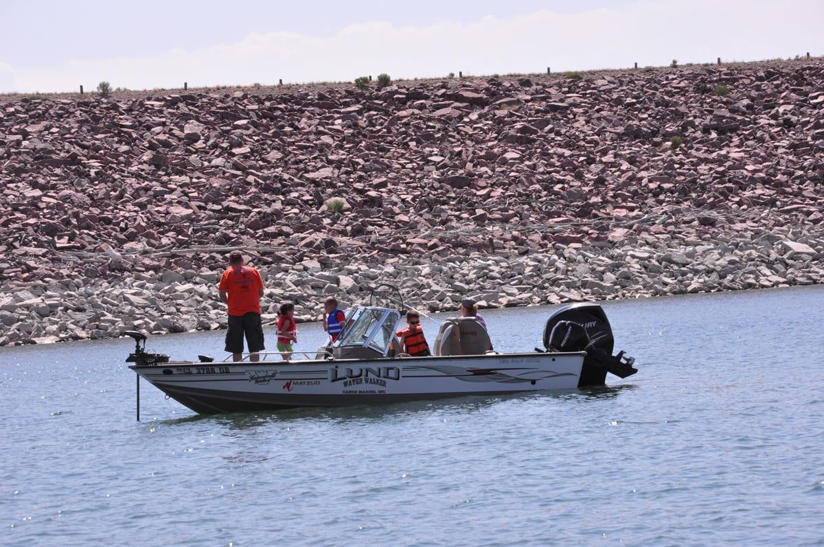 Lake Pueblo Fishing Boat Colorado