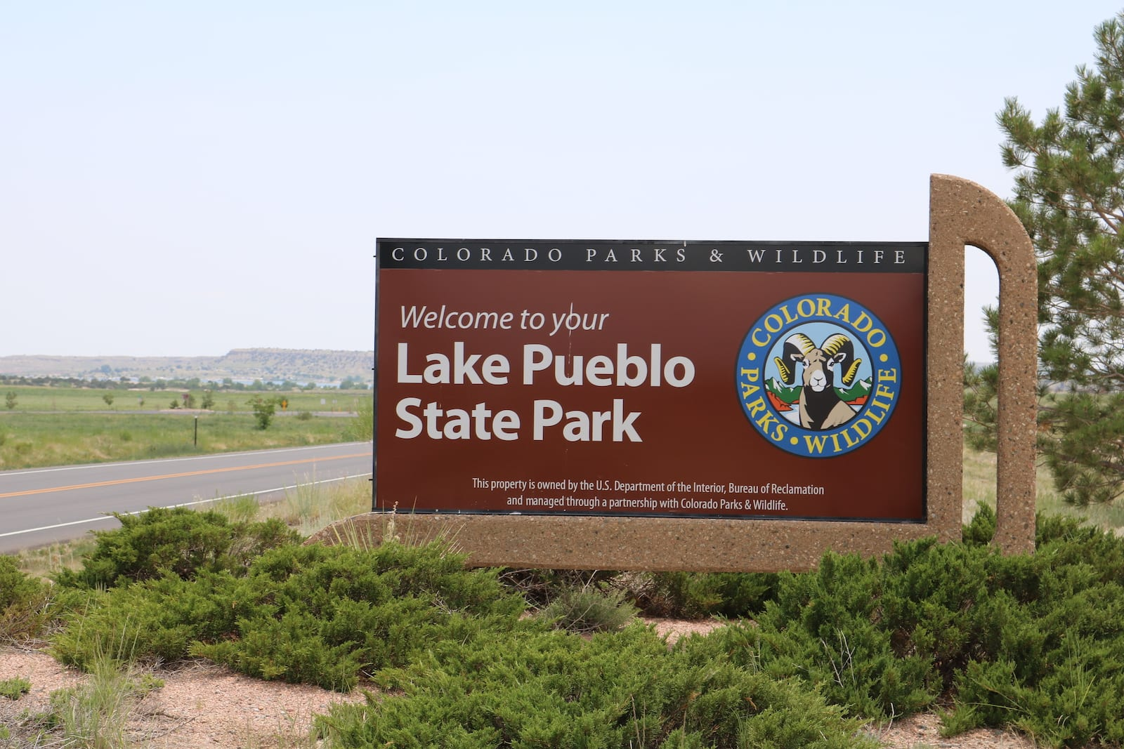 Lake Pueblo State Park Welcome Sign