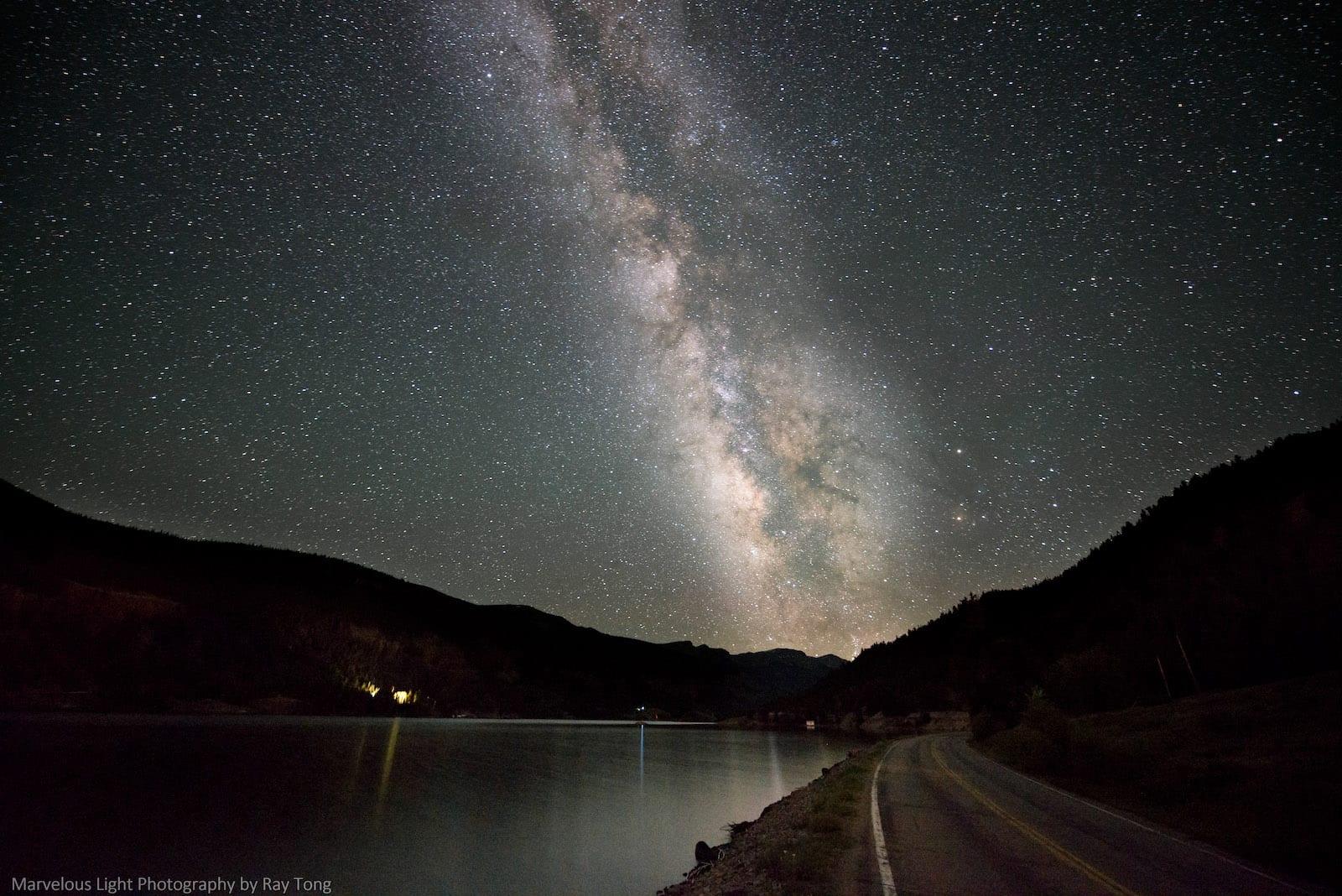 Lake San Cristobal Lake City Night Stars Milky Way