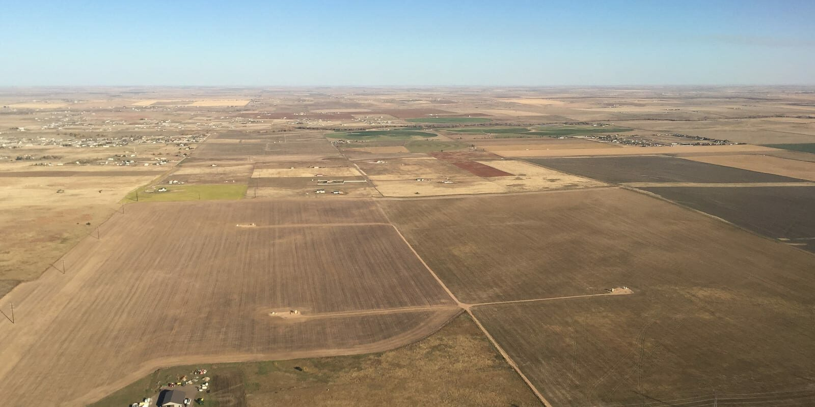 LImon Colorado Great Plains Aerial View
