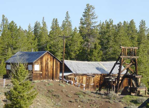 Matchless mine and Baby Doe Tabor cabin Leadville, Colorado