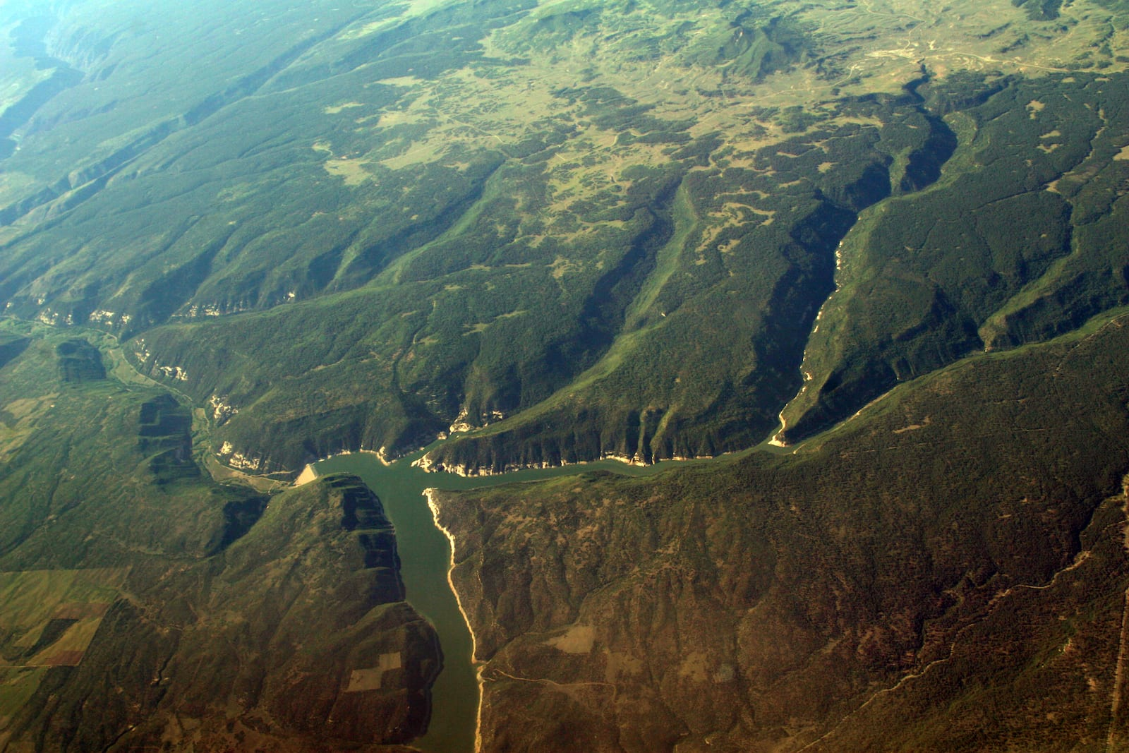 McPhee Reservoir Summer Aerial View Dolores CO