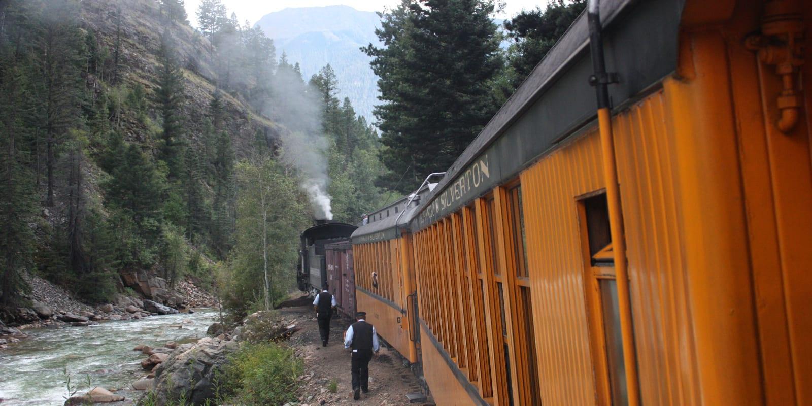 Needleton, CO Flag Stop Durango and Silverton Narrow Gauge Railroad