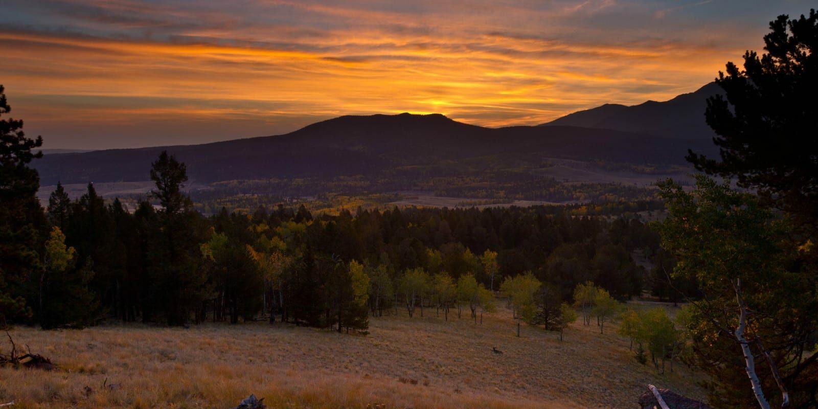 Mueller State Park View of Pikes Peak Sunrise