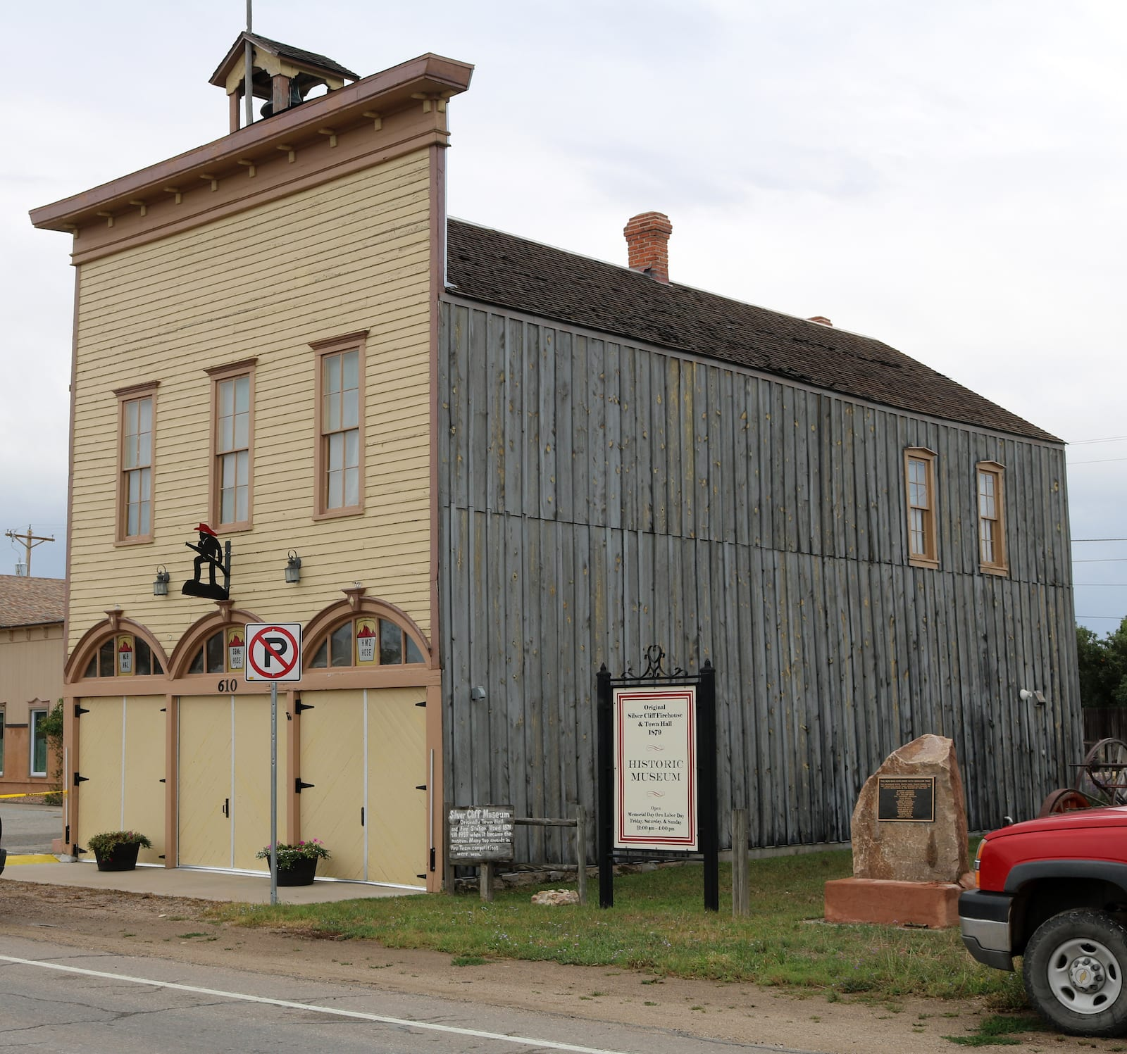 Original Firehouse and Town Hall in Silver Cliff CO