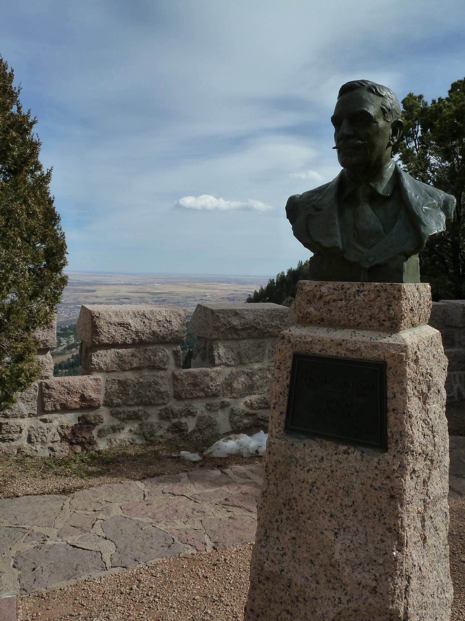 Spencer Penrose at Will Rogers Shrine of the Sun Colorado Springs