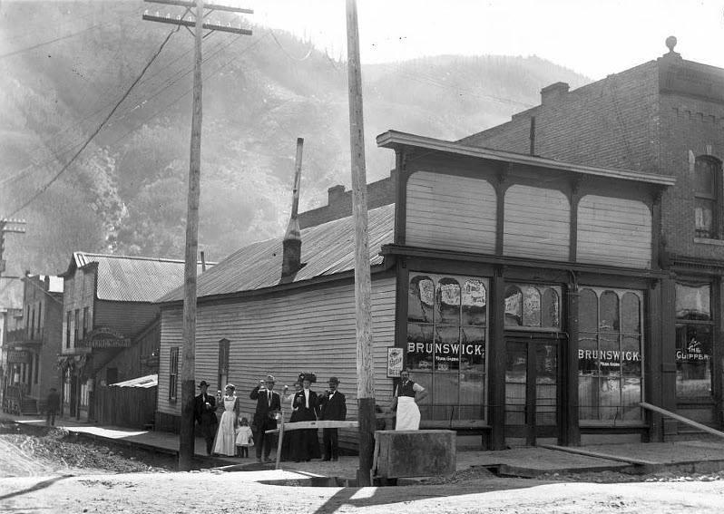 Brunswick Saloon Downtown Telluride CO Circa 1900