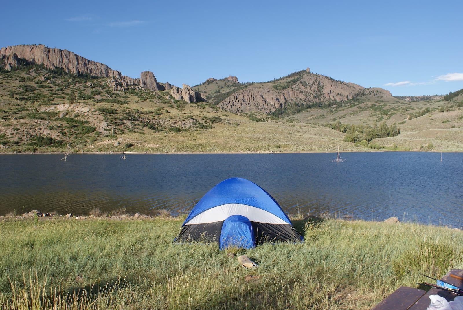 Tent Camping Blue Mesa Reservoir Curecanti Natioanl Recreation Area Colorado