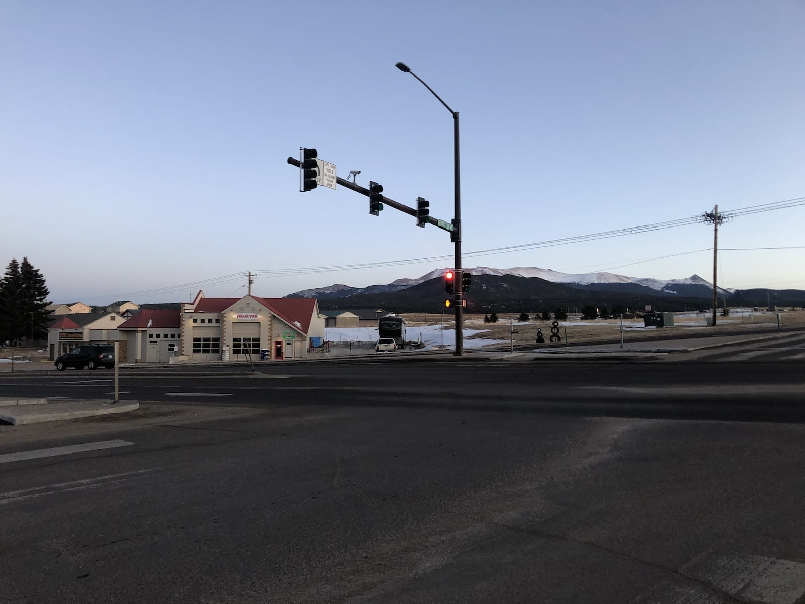 Town of Divide CO Intersection Highway 24 and 67