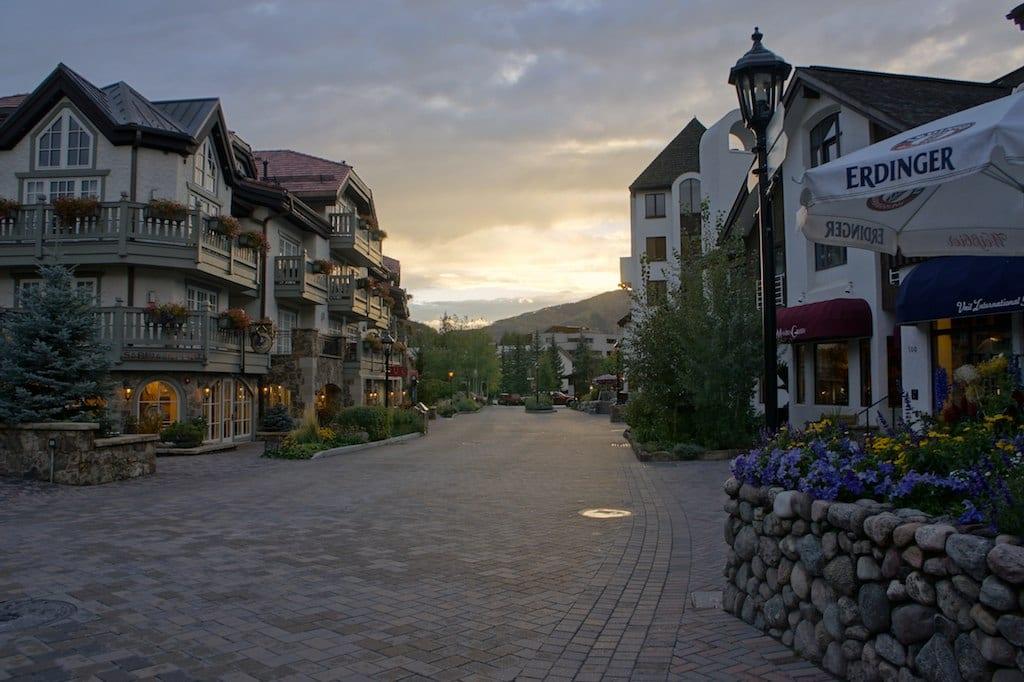 Vail Village CO Sunset Summer