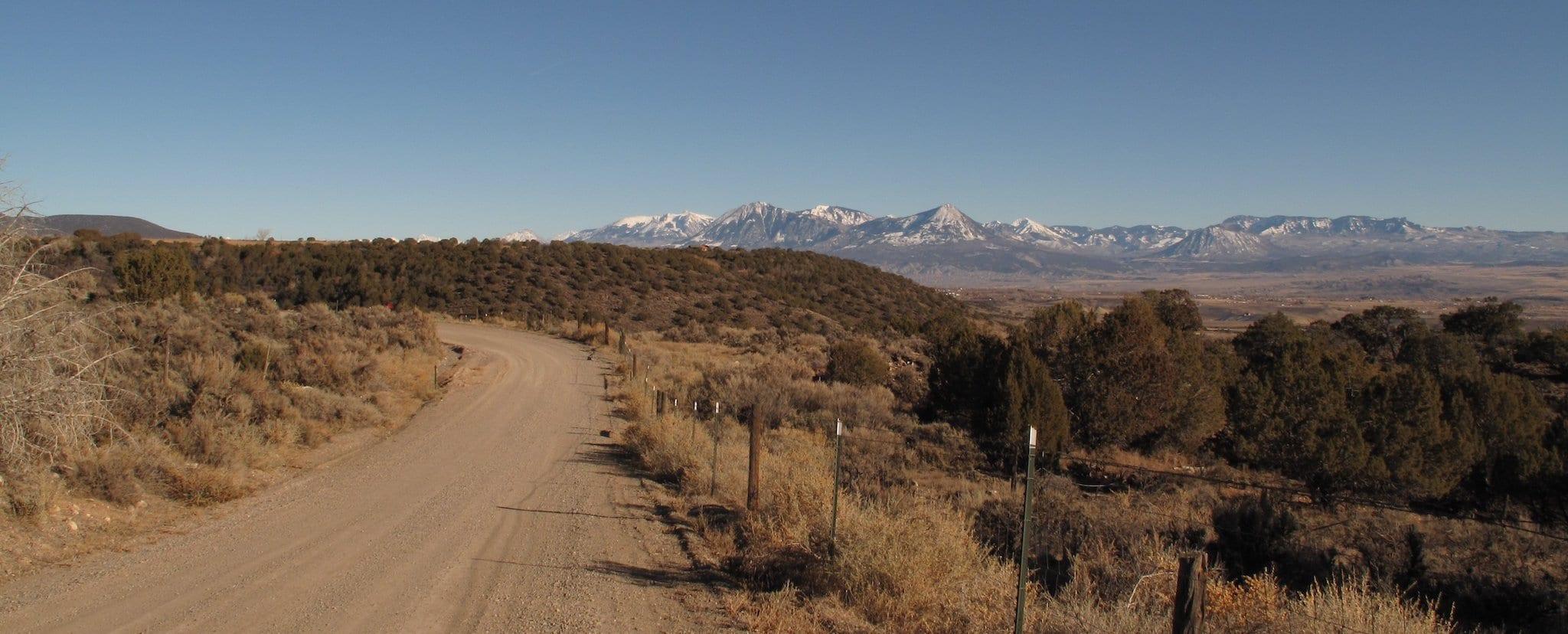 West Elk Mountains from Redlands Mesa, near Hotchkiss