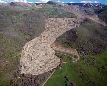 West Salt Creek Landslide 2014 Aerial View