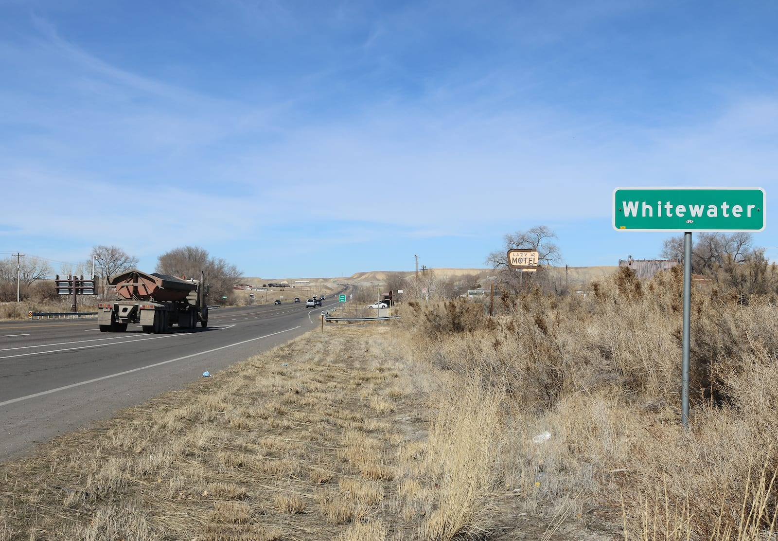 Whitewater CO Sign Highway 50