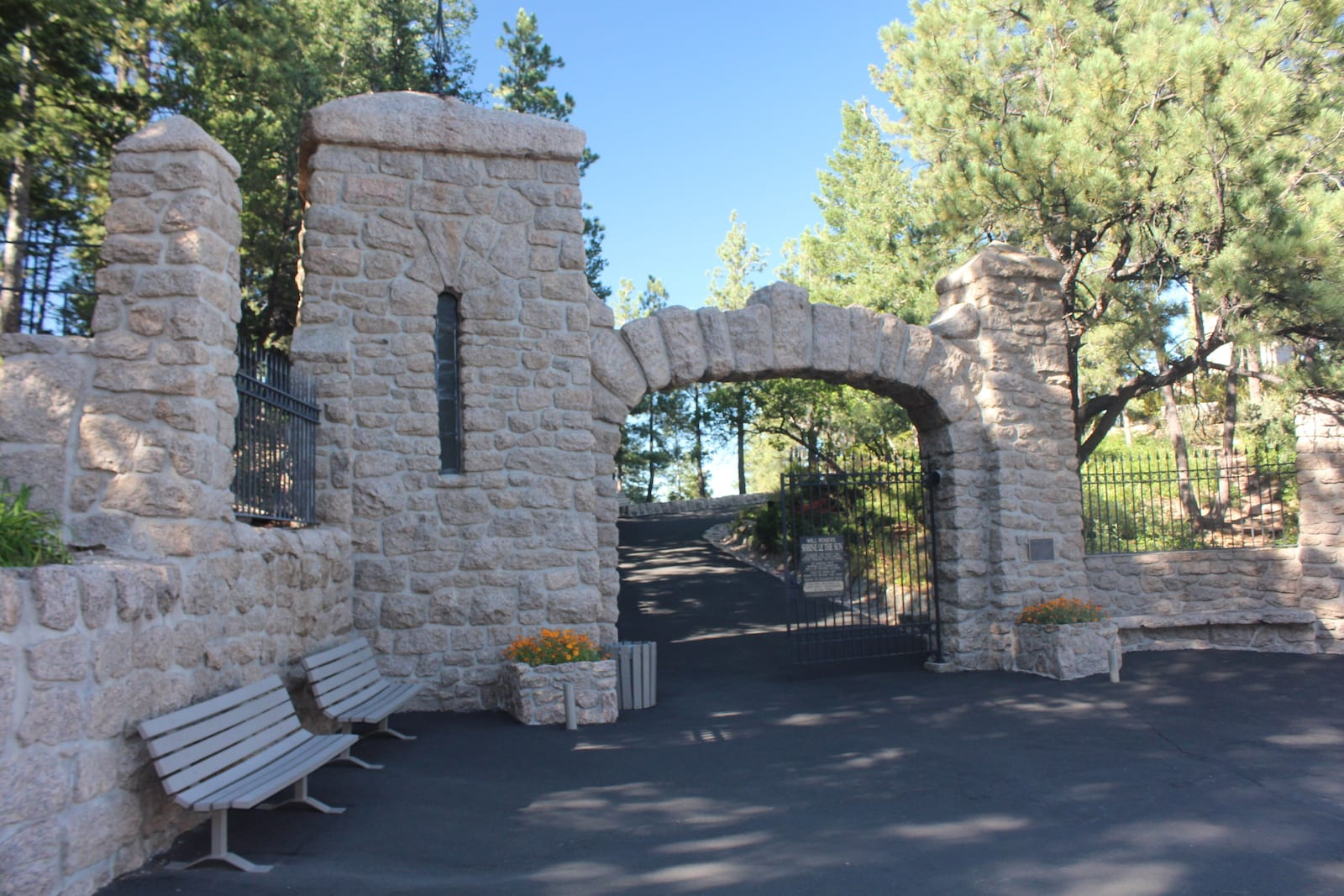 Will Rogers Shrine of the Sun Colorado Springs Entrance Gate