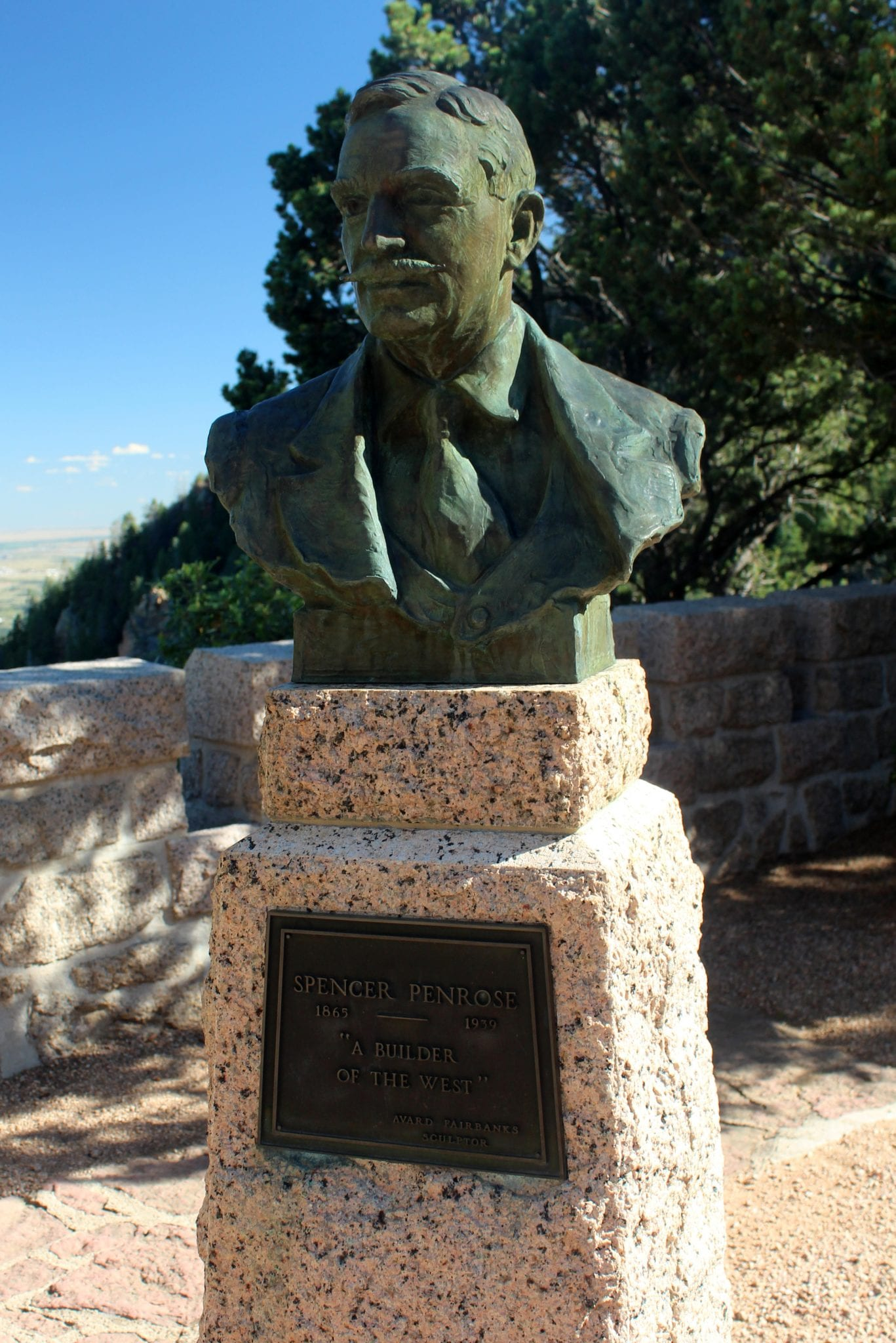 Will Rogers Shrine of the Sun Colorado Springs Spencer Penrose Sculpture