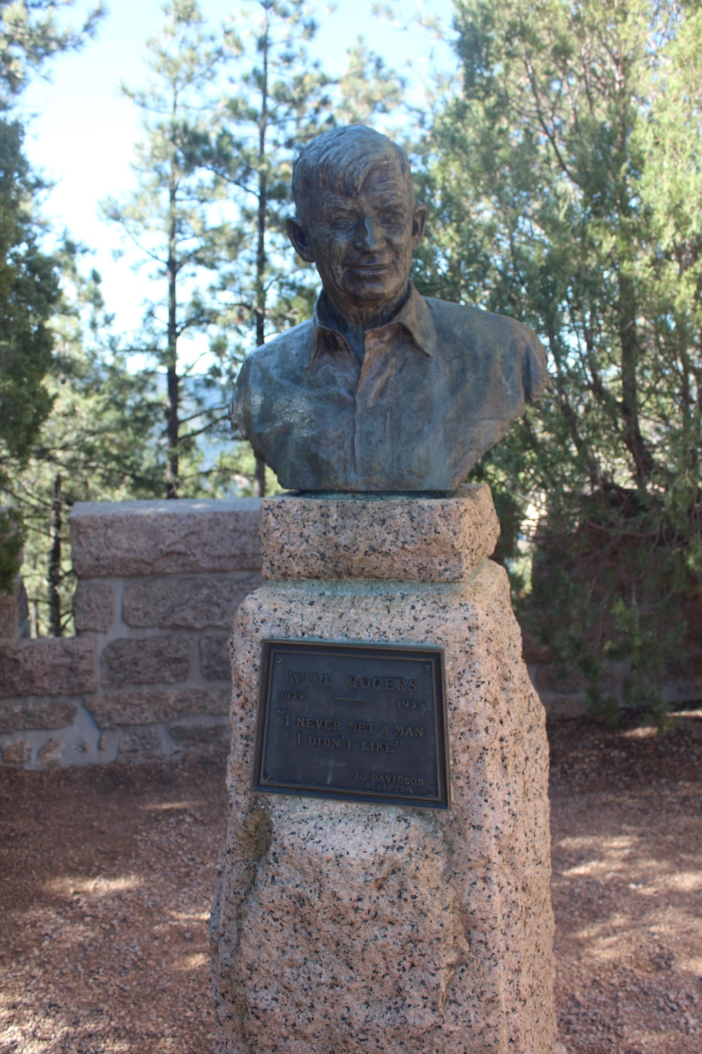 Will Rogers Shrine of the Sun Colorado Springs Will Rogers Sculpture