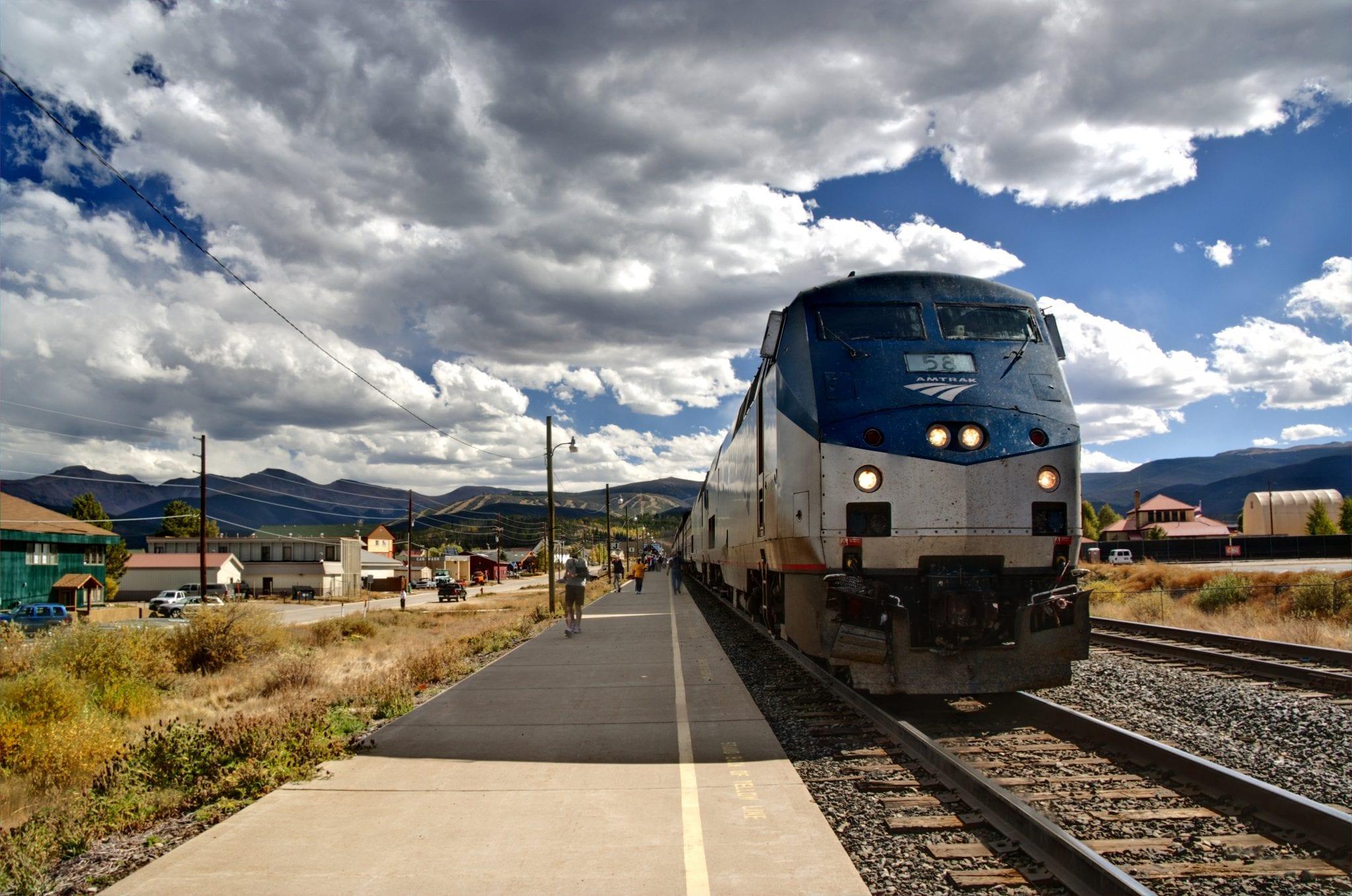 Amtrak California Zephyr Train Fraser CO