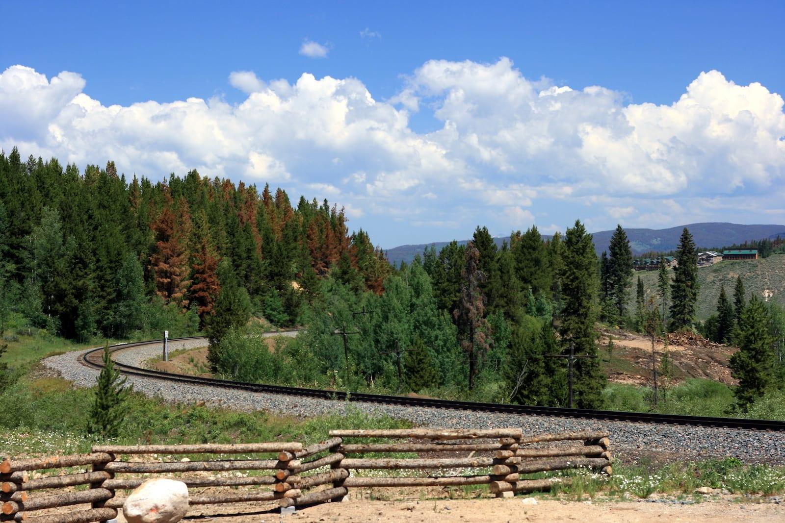 Winter Park CO Amtrak Train Tracks