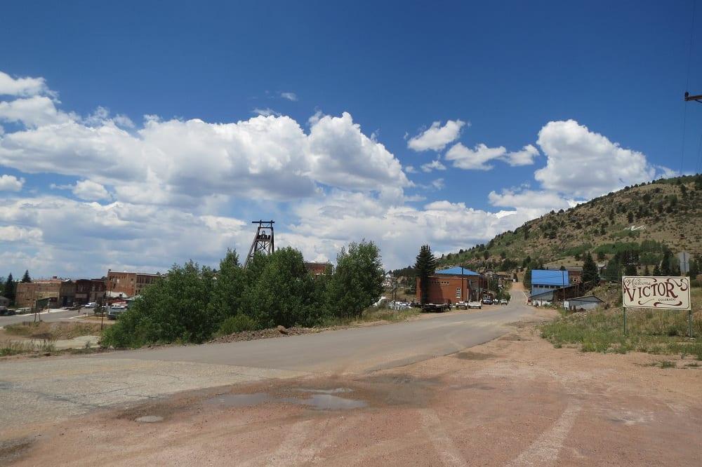 Entering Downtown Victor Colorado