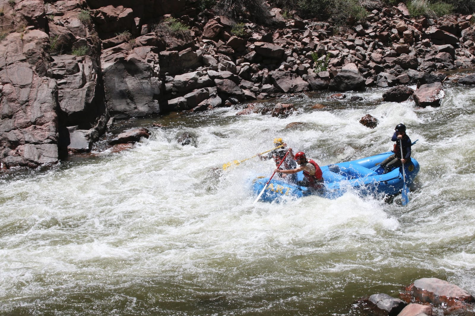 Rafters on Arkansas River, CO