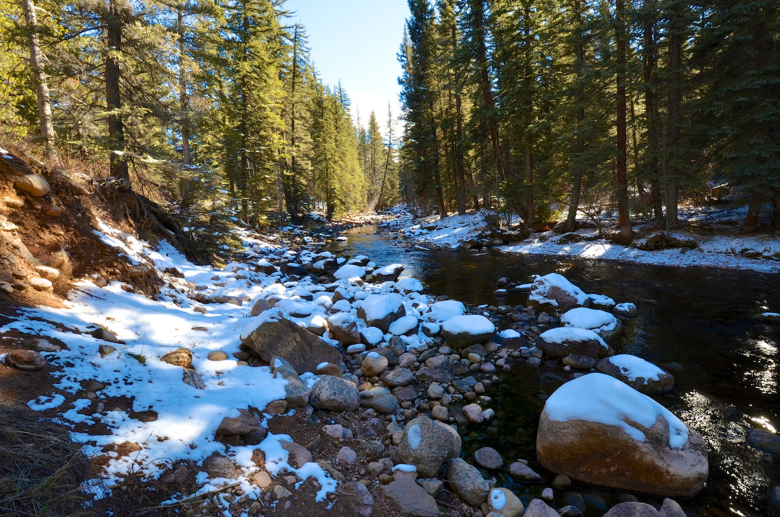 Gore Creek on the walk to Lionshead, CO