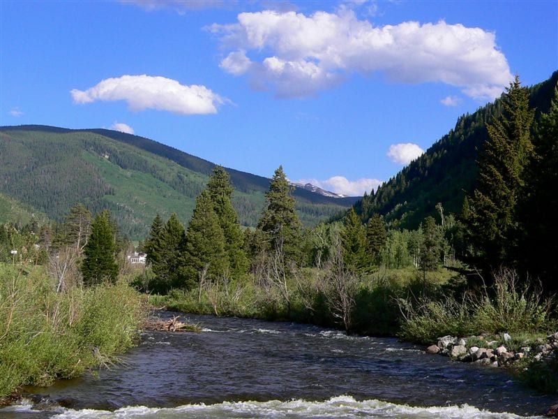 A pic of Vail from a bridge overlooking Gore Creek, CO