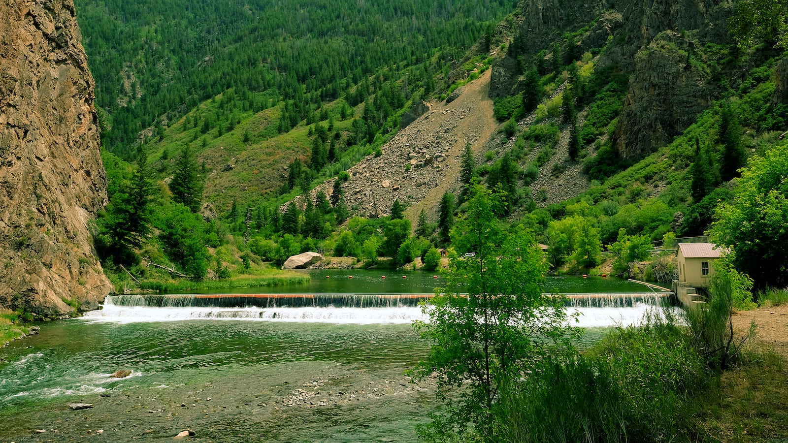Gunnison River Plywood Dam and Tunnel Inlet, CO