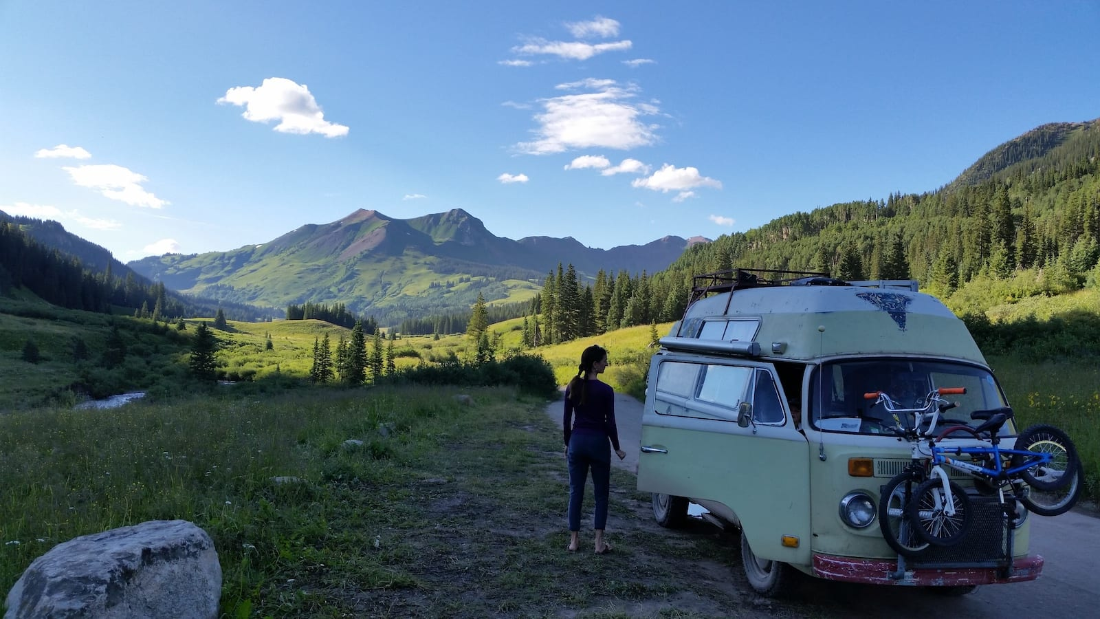 Overlooking Schofield Pass near Crested Butte, CO