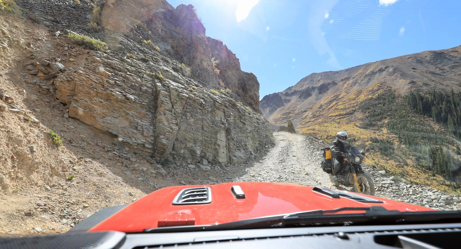Passing on Ophir Pass, CO
