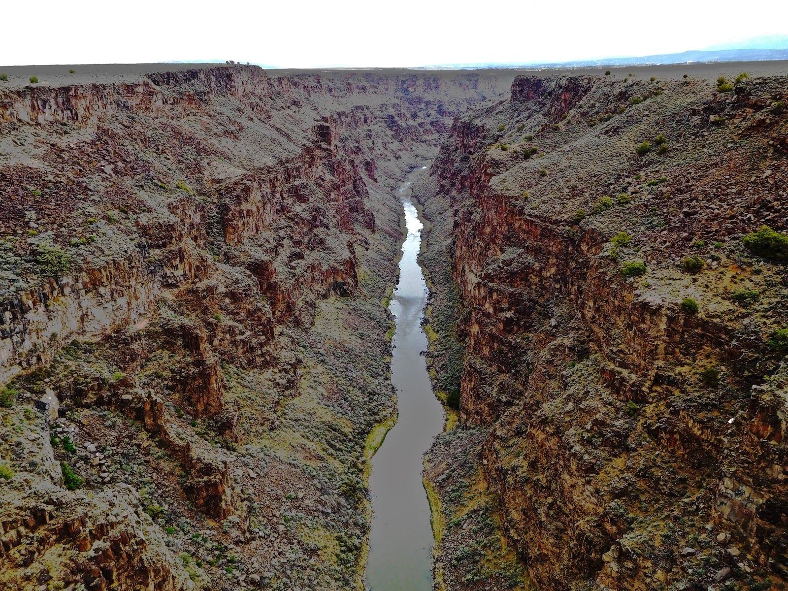 Rio Grande Gorge river in Mexico