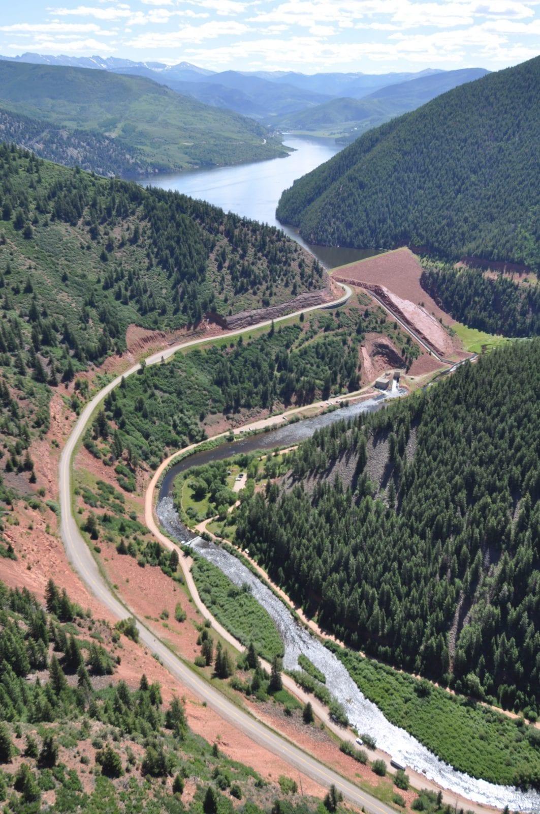 Ruedi Dam and Ruedi Reservoir, Colorado