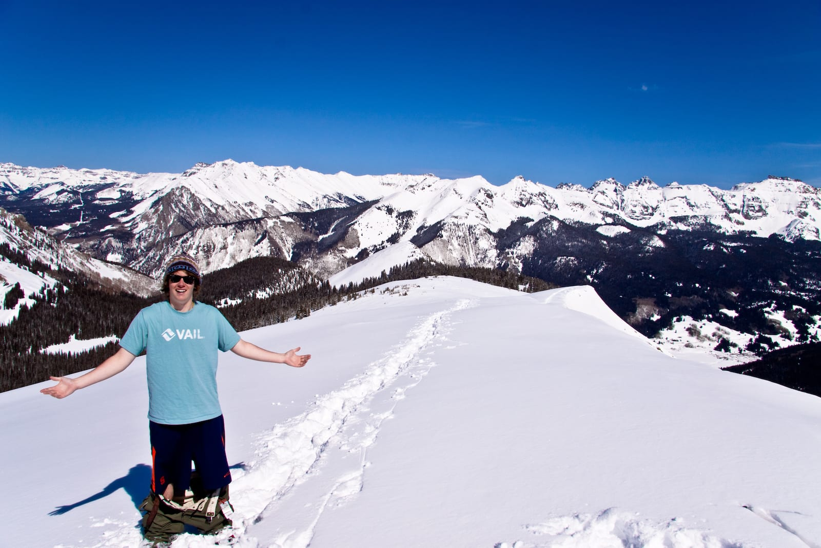 Snowshoeing around Lizard Head Pass, CO